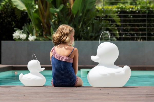 DUCK-DUCK lamp™ set of 1xsize S + 1x size XL white