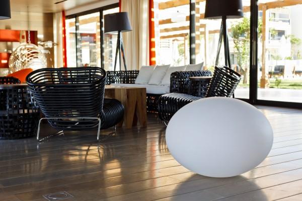 "FLATBALL XL kabelloses LED Lichtobjekt Ø70x52cm ""App-control"""
