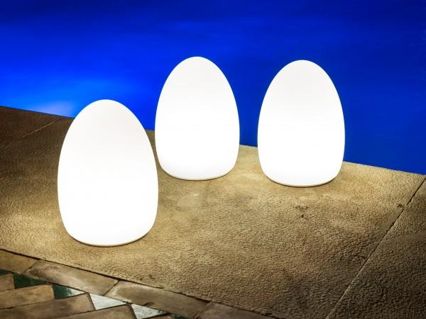 3er Set EGG, kabellose LED-Tischleuchte Ø16x21cm SmartMESH® APP-control