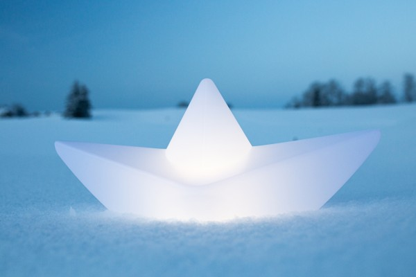 The BOAT lamp™ 50x22x23cm Akku-led Lichtobjekt