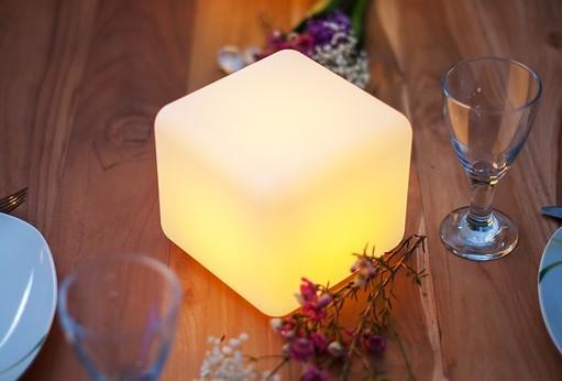 "DICE S cordless led-lamp 16x14x14cm BULBLITE ""APP-control"""