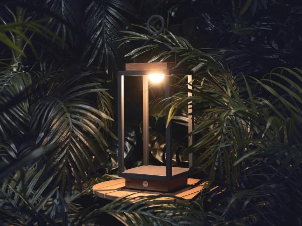 """SUNS COCO M Gartenleuchte mit """"Hybridtechnologie"""" 19x19x57,5cm in matt-royal-grau"""