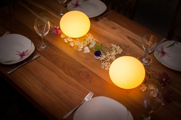 FLATBALL xxs kabellose LED Leuchte mit Infrarot Fernbedienung